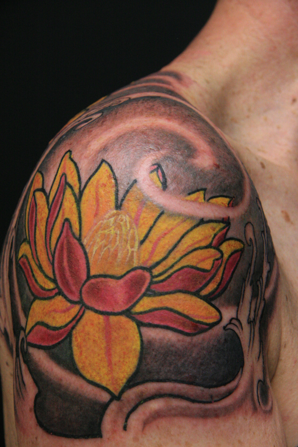 Following is the story of Carol's Japanese Lotus Flower design